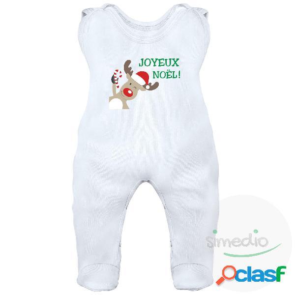 Grenouillère bébé: joyeux noël - blanc 0-1 mois