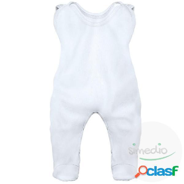 Grenouillère bébé personnalisée au prénom de votre bébé (7 couleurs) - blanc 3-6 mois