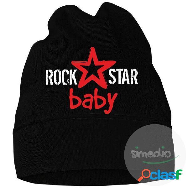 Bonnet bébé original: rock star baby (7 couleurs au choix) - blanc 42 (jusqu'à 3 mois)