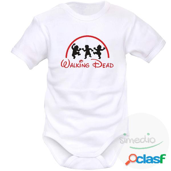 Body bébé rigolo: walking dead - blanc courtes 0-1 mois