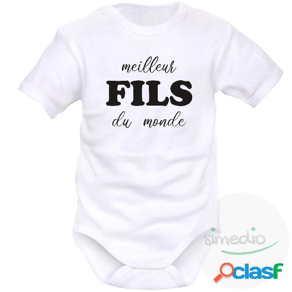 Body bébé original: meilleur fils du monde - blanc courtes 4-6 mois