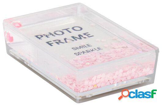 Hema cadre photo avec paillettes 10x6,5x2,5 roses