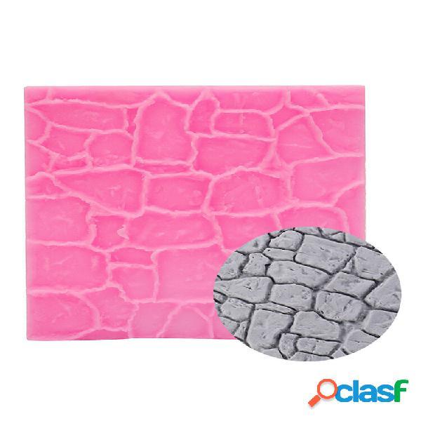 Hot 3d imitation tiles silicone fondant mold cake decor sugarcraft mold tools bakeware