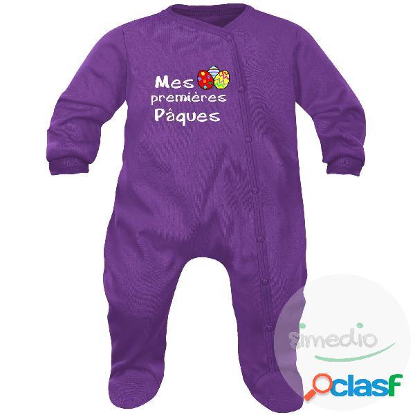 Pyjama bébé original: mes premières PÂQUES - Violet 6-12 mois
