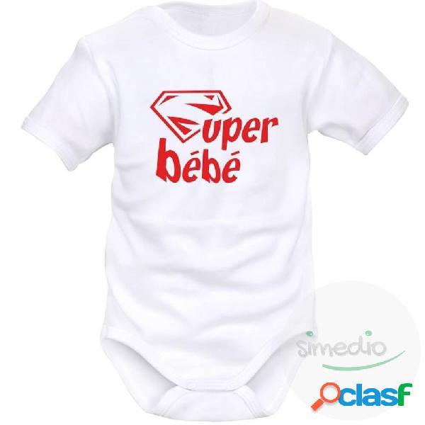 Body bébé original: super bébé - rose courtes