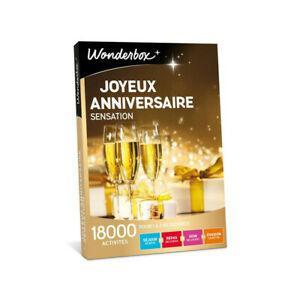 Coffret cadeau wonderbox joyeux anniversaire sensation