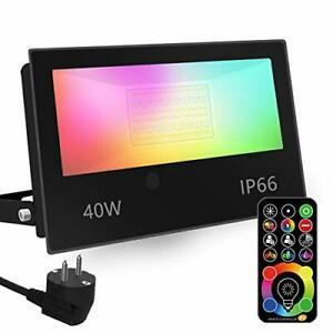 Projecteur led, changement de couleur rgbw équivalent 350w,