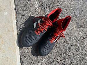 Adidas predator sg noir/rouge porté 2 fois