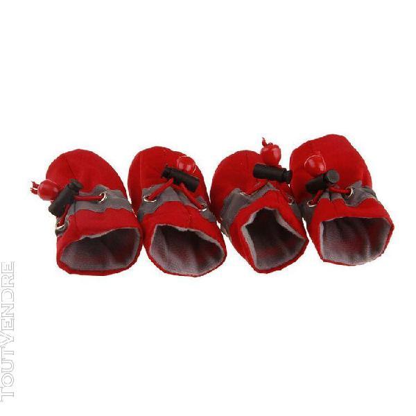 Chiot de velours rouge sans chaussures tout-petits chaussure