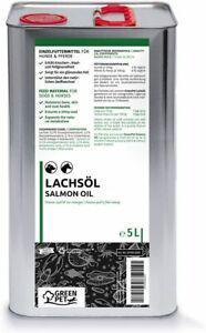 Huile de saumon naturel fraîche pour chiens chats chevaux