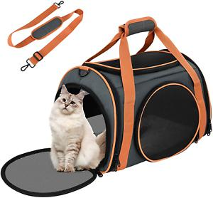Sac transport chat lapin chiot solide pliable 4 ouvertures 5