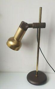Lampe vintage potence orientable laiton neweba swiss light