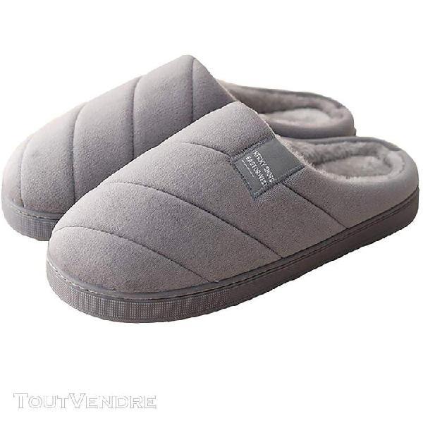 Pantoufles en peluche chaudes chaudes et chaudes unisexe à