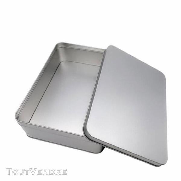 1 pc boîte en métal pratique durable en acier en caisse en