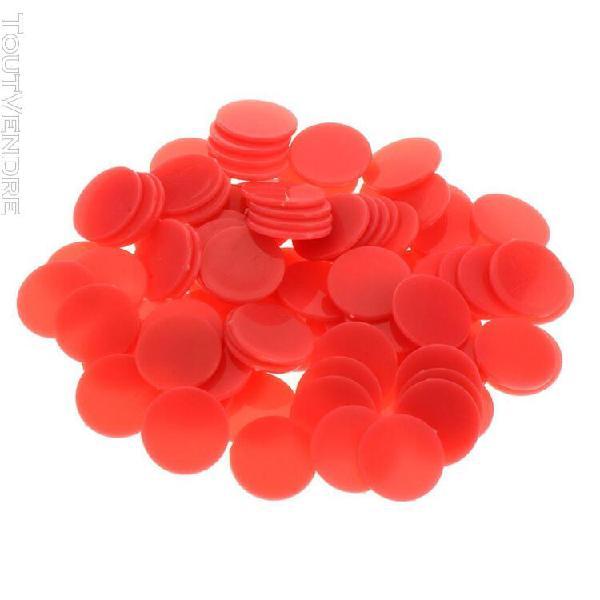 100 pièces en plastique jetons de poker bingo marqueurs