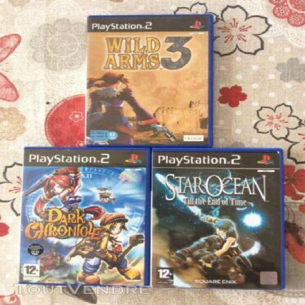 Lot de 3 jeux video ps2