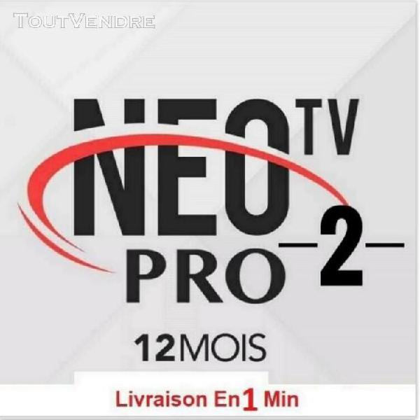 neo tv pro 2 officel code 12 mois⭐stable⭐✅envoi rapide