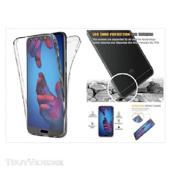 Coque protection integrale rigide transparent 360 huawei p s