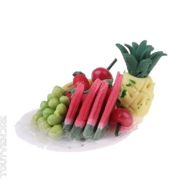 1/12 scale miniature plateau de fruits résine meubles de