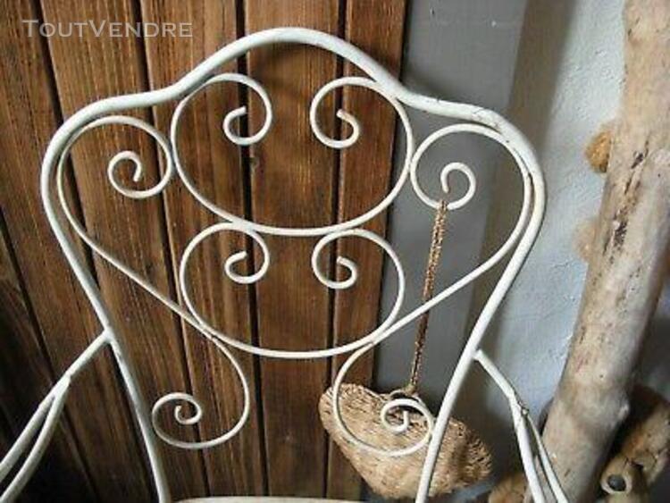 2 fauteuils anciens en fer forgé salon de jardin 19 ème