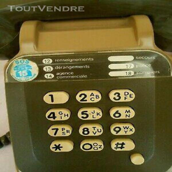 Ancien telephone a clavier-ptt 1986 - so.co.tel -s 63- bicol