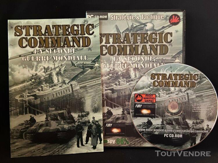 Jeu pc strategic command - la seconde guerre mondiale - comp