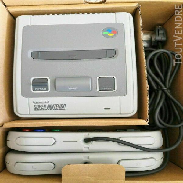 Super nintendo snes mini classic+260 jeux fr+adaptateur sect