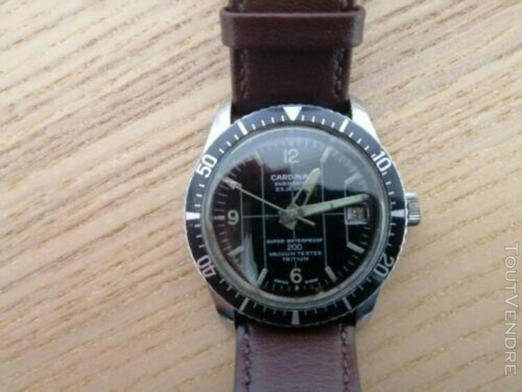 Vintage cardinal sicura submarine watch 60s 23 jewels