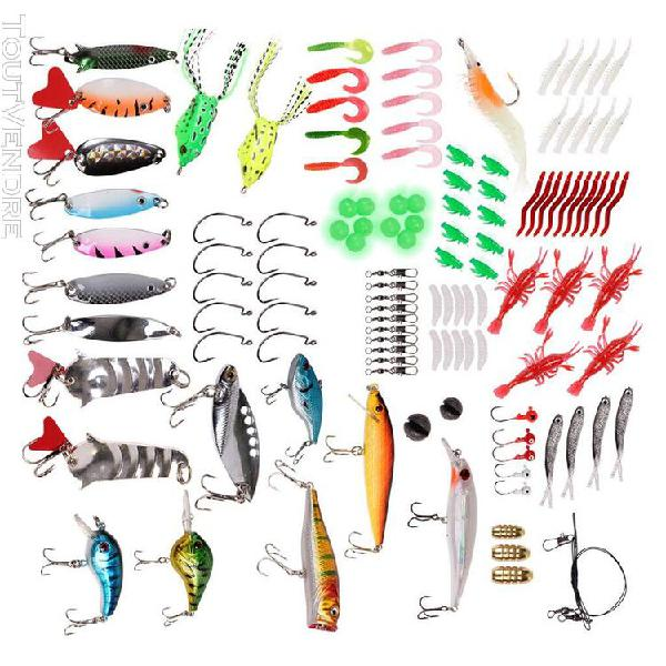 125x kit d'accessoires pour le matériel de pêche