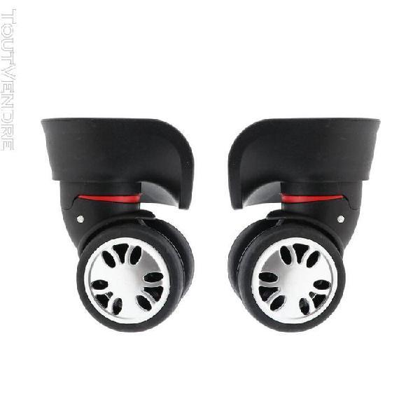 2 pièces valises roulettes pivotantes roue de rechange