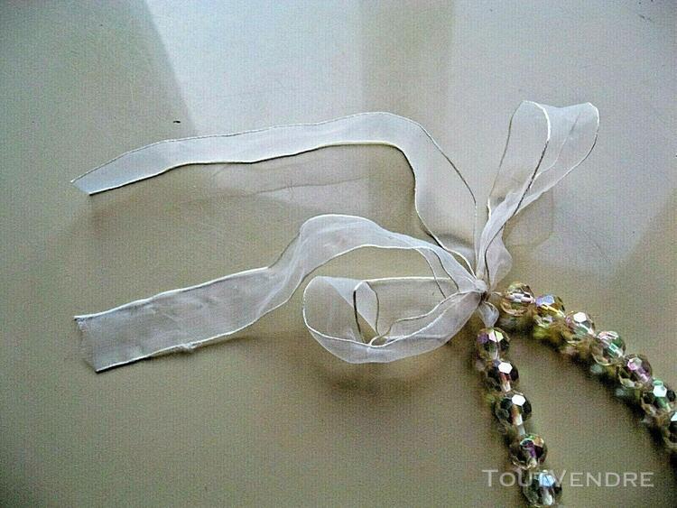 beau collier cristal facetté intercalé perles + Élements
