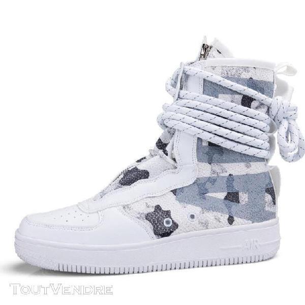 blanc-45] chaussures de basket-ball pour hommes en plein ai