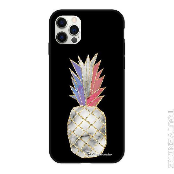 coque iphone 12/12 pro silicone liquide douce ananas À la