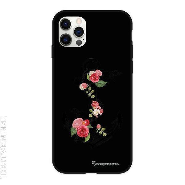 coque iphone 12/12 pro silicone liquide douce ancre la coque