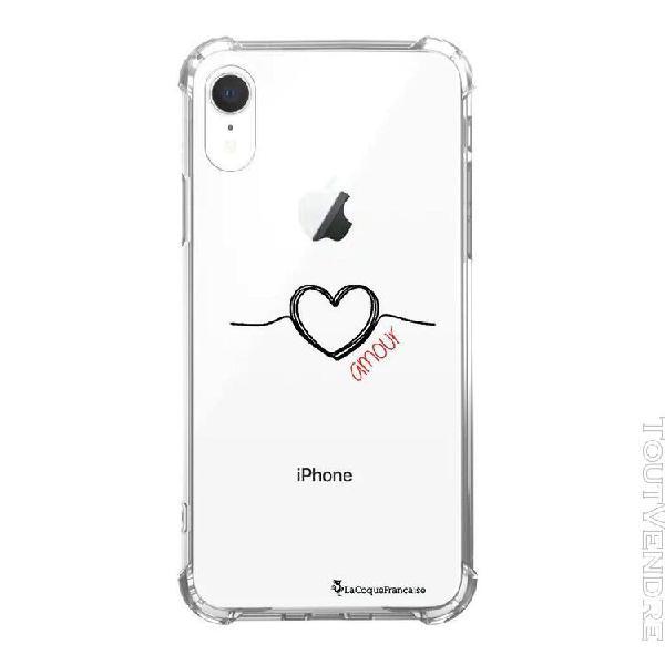coque iphone xr anti-choc souple angles renforcés coeur