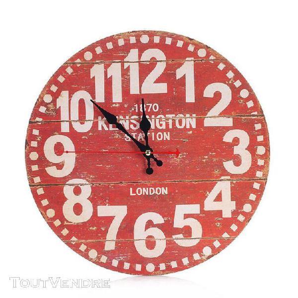 Creative retro clock salon horloge murale ronde petit horlog
