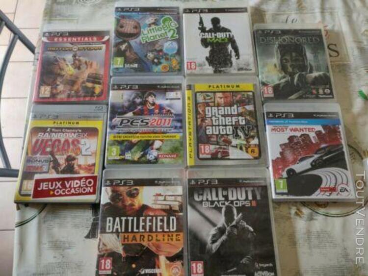 Jeux ps3 lot 10 jeux ps3 + 1 jeux offert