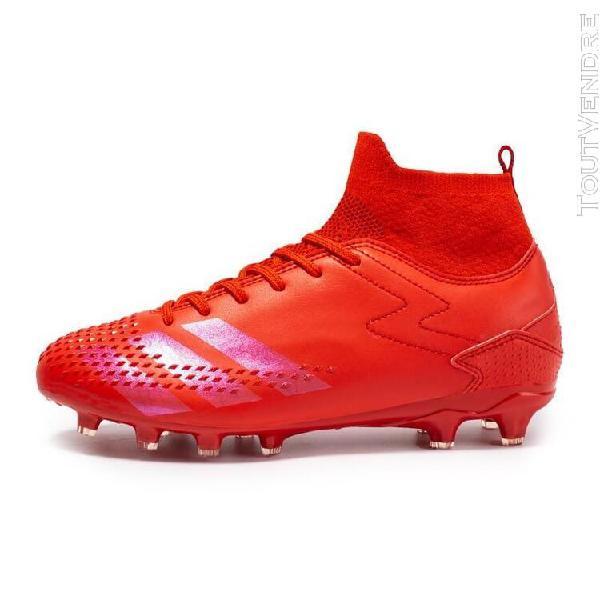 long rouge-6,5] chaussures de football baskets montantes en