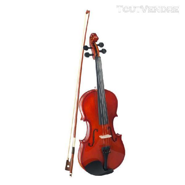 violon 1/2 brun durable de violon acoustique brun pour le vi
