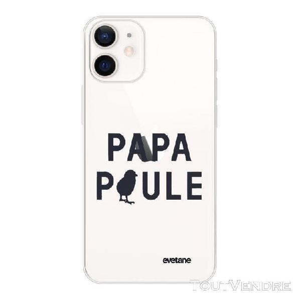Coque iphone 12 mini 360 intégrale transparente papa poule