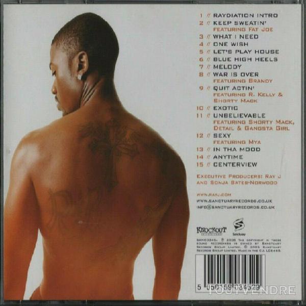 Ray j - raydiation - genre r&b - 2005 - cd original