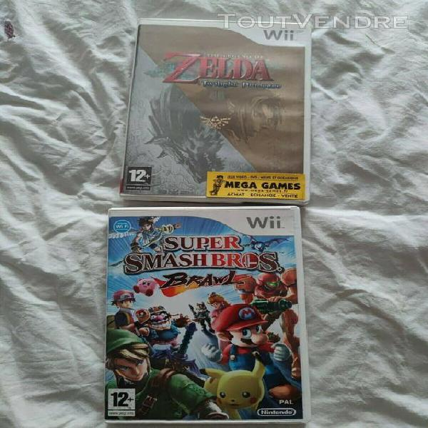 Wii: zelda twilight princess, smash bros brawl