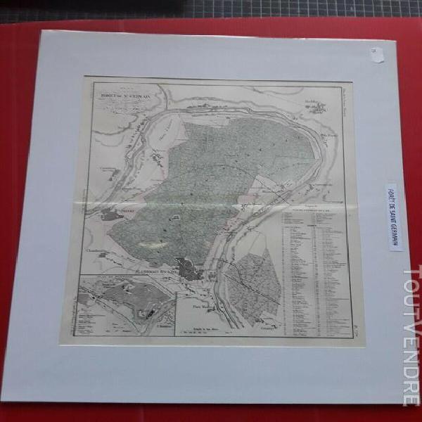 Carte ancienne de la forêt de saint germain par malte brun