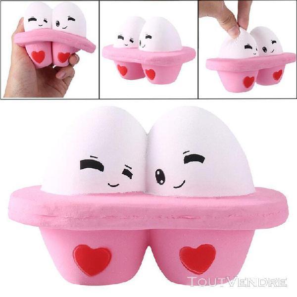 Kawaii cartoon cute egg squishy slow rising cream jouet anti