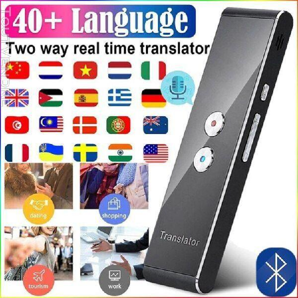 Appareil de traduction portable sans fil intelligent t8, blu