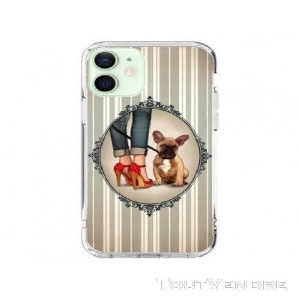 Coque iphone 12 mini lady jambes chien dog - maryline cazena