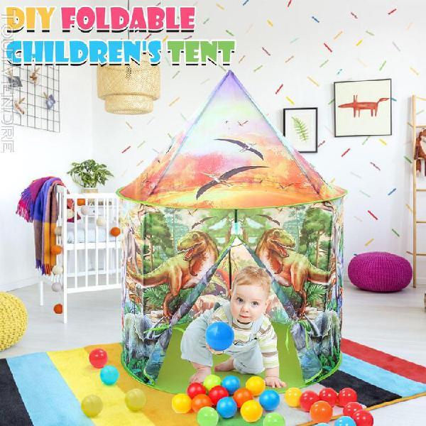 Tente de jeu de bricolage pour enfants de dinosaures, tente