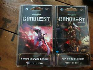 2 jeux cartes lcg differents scellés conquest warhammer