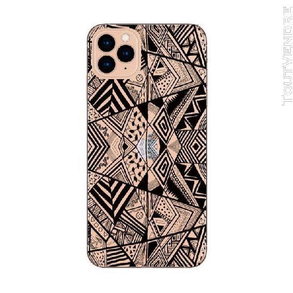 Coque iphone 12 mini geometrique noir