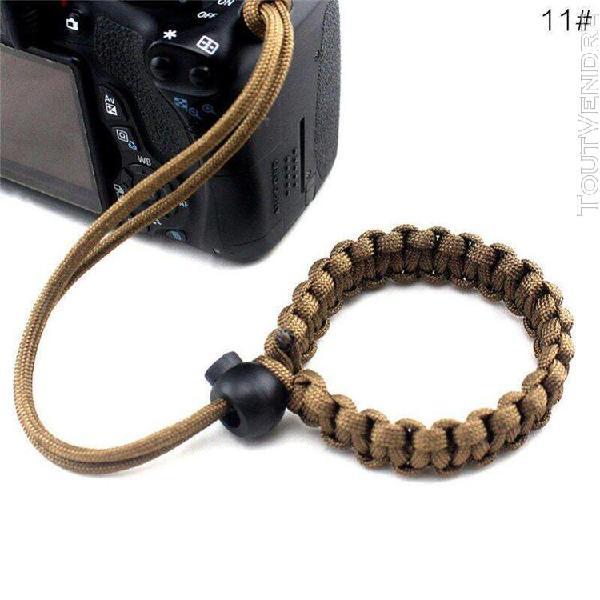 Dragonne pour appareil photo, faite à la main, plaque à